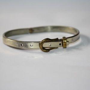 Sterling Belt Sassy Bangle Bracelet